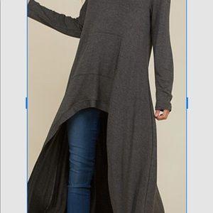 Long sleeve hi-low super cute hooded tunic, looks